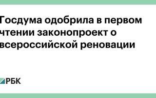 Госдума одобрила в первом чтении законопроект о всероссийской реновации :: Бизнес :: РБК