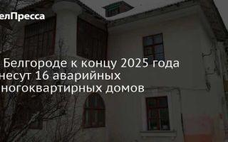 Расселение аварийного жилья в Белгороде в 2021 году – список домов, программа