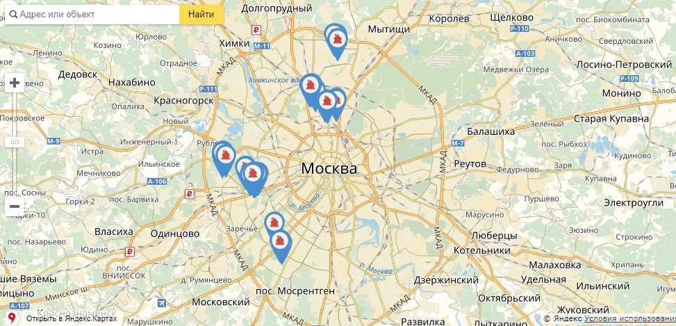 Карта домов