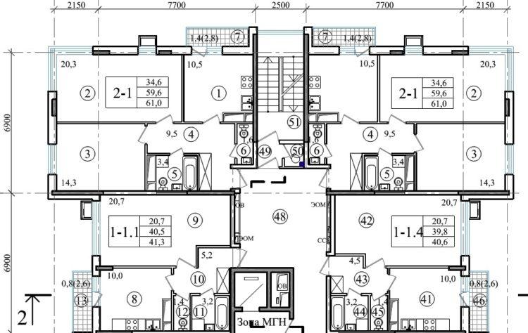 Планировки домов по реновации в ЗАО